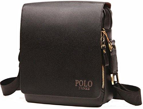 FANKE POLO 4FSGLOBAL Composite Leather luxury men bag design Casual  Business Messenger Vintage Crossbody Bag ( ce36ed0835a2a
