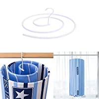 Peedeu Quilt Drying Rack, Hang Blanket Hangers, Spiral Shaped Hangers Space Saving, Rotating Quilt Storage Rack, Great For Hanging Quilts, Comforters, Bedding On Laundry, Outside, Indoor Balcony