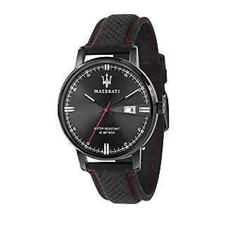 MASERATI Reloj Analógico para Hombre de Cuarzo con Correa en Cuero R8851130001