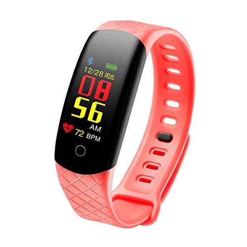 S2 Smart Watch Sport Fitness Aktivität Herzfrequenz/Dorical Tracker Blutdruck Uhr, Blutdruck Blutsauerstoffsättigung Pulsuhr Fitness Tracker Sportuhr für Android iOS(Orange)