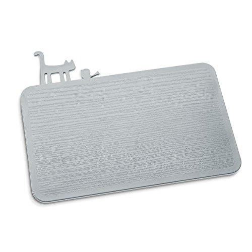Koziol 3639632 Planche à découper, Plastique, Gris Froid Opaque, 25 x 29,8 x 0,5 cm
