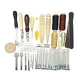 HEALLILY 59 Pezzi di Artigianato in Pelle Set di Accessori per Il Lavoro in Pelle Fai da Te Accessori per Cucire Tappezzeria su Tela