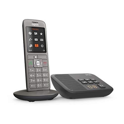 Gigaset CL660A schnurloses Telefon mit Anrufbeantworter, DECT Telefon, Design Telefon, ein Mobilteil mit TFT-Farbdisplay, großes Adressbuch, anthrazit-metallic
