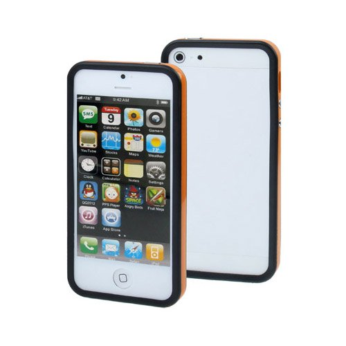 Apple iPhone 6 TPU Gel Case - Blau Apple iPhone 6 Tasche Flip Case Leder Cover Schutz Hülle Etui Schale - thinkmobile Orange / Schwarz