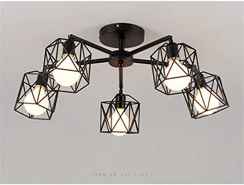 MS.REIA Vintage LED Deckenleuchten, Weiß, Warmweiß, Industriestil, E27 Moderne Kunstbeleuchtung aus Eisen für Wohnzimmer Schlafzimmer Küche Flur - Modernen Speisesaal Möbel
