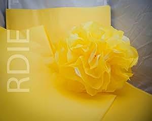24 feuilles de papier de soie Jaune Pale, 50x75cm, 18 grs