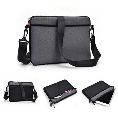 Kroo Schutzhülle/Tasche/Tablet Tragetasche Sleeve mit Schultergurt für Karbonn A34/A37, Lenovo ThinkPad T8Tablet grau Grau / Schwarz (Coach Taschen Vintage)