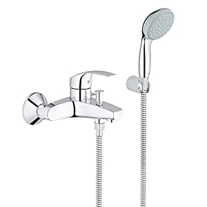 Grohe Eurosmart – Grifo para baño y ducha, inversor automático, tecnología Grohe SilkMove (Ref. 33300002)