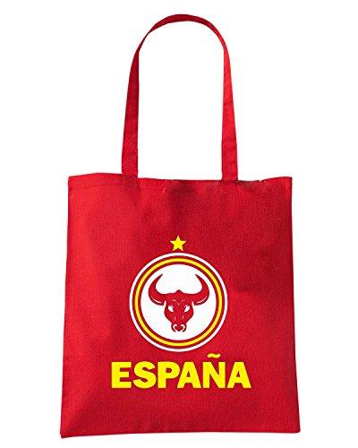 T-Shirtshock - Borsa Shopping WC0104 SPAIN ESPANA SPAGNA Rosso
