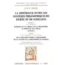 La différence entre les systèmes philosophiques de Fichte et de Schelling