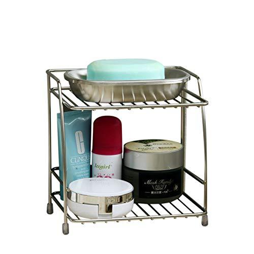 Stale 2-Schichten Edelstahl Lagerregal Gewürz Würze Korb Schreibtisch Organizer Küche Bad Lagerhalter Rack Regal