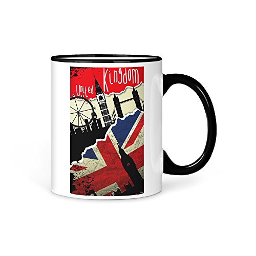 Tasse Kaffeetasse EM 2016 England UK Fussball Fahne