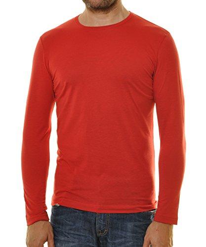 RAGMAN Herren Langarm Shirt mit rundhals Bodyfit Chilli-066