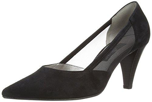 Gabor - Antoinette, Scarpe Col Tacco da donna Nero (Black  (Black Suede/Mesh))