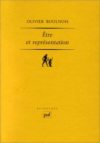 Être et représentation : Une généalogie de la méthaphysique moderne à l'époque de Duns Scot par Olivier Boulnois