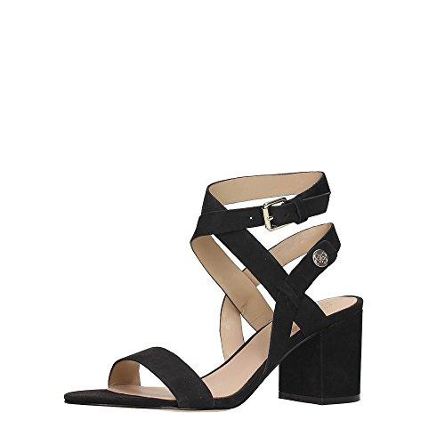 Guess Sandalo Donna Najya Tacco Cm 7 Suede Lugga Marrone Black