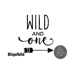 Bügelbild Aufbügler Geburtstag Wild and One Pfeil Arrow in Flex, Glitzer, Flock, Effekt in Wunschgröße