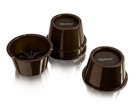 Slipstick Cb6545,1cm Lift rehausseurs de meuble/lit espaceurs, ajoute 5,1cm Hauteur pour meubles lourds ou Lits (lot de 4) Prend en charge 907,2kilogram
