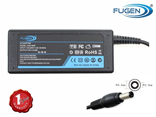 Fugen Laptop Adapter Charger 65w 19v 3.42a for Toshiba Satellite...