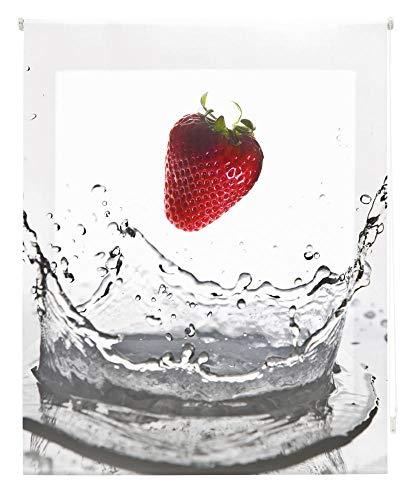 happystor HSCC82152 Estor Enrollable Estampado Digital Cocina Tejido Traslúcido Medida Total Estor:85x250 (**Solo Ancho Tela:81-82cm.**)