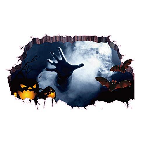 Emorias 1 Pcs Mural de Halloween Impresión de la Palma Bat Etiqueta de Piso Etiqueta de la Pared Fiesta Carnaval Ventana Decoración