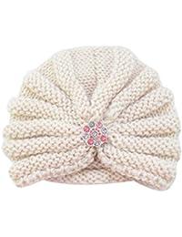 5a5a984cf27b Bonnet Bébé, Mamum Enfants bébé filles tricot chapeau bonnet turban tête  Wrap ...