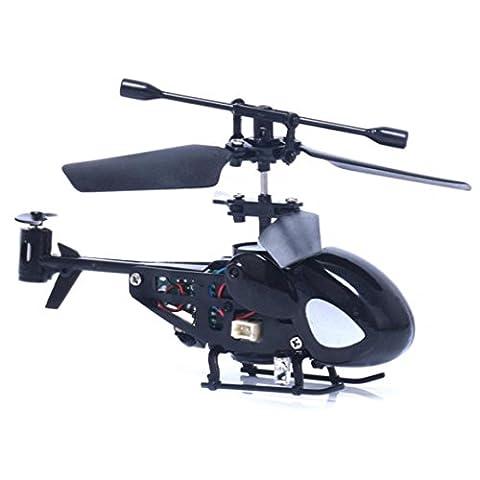 SOMESUN Mini RC Helicopter Radio Télécommande Aircraft Toy Gift Micro 3.5 Channel Modèle d'avion Hélicoptère (Noir)
