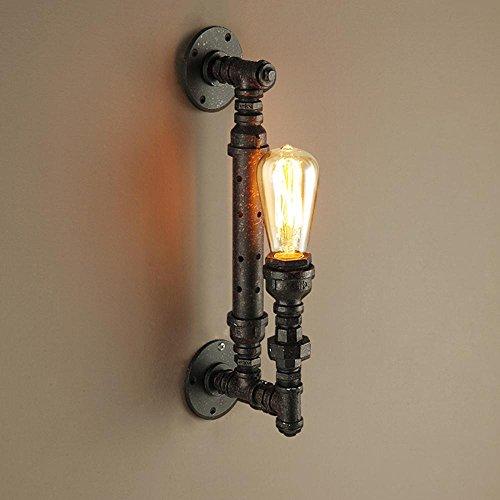 8 Lampe Vanity Licht (Retro-Loft Steampunk Wasserrohr Wandlampe Seeksung Industrie-Café Ganglicht Lichter Dekoration Lampe E27 Rostfarbene Wandbeleuchtung Enthalten Glühbirnen Breite 25Cm * Höhe 30Cm)