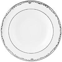 Lenox Coronet Platinum 9-Inch Platinum-Banded Fine China Pasta/Rim Soup Bowl, Set of 4 by Lenox