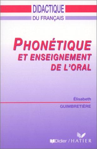 Phonétique et enseignement de l'oral