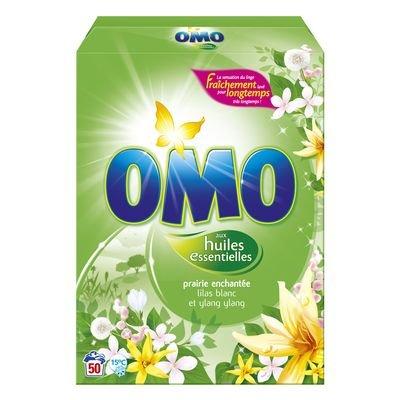 Omo - P04275700 - Lessive poudre aux huiles essentielles lilas blanc et ylang - 3,5 kg