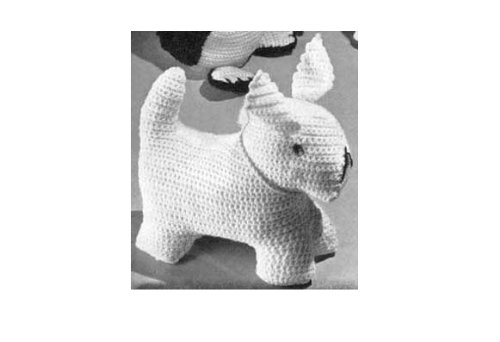 CROCHETED DOG TOY. Vintage Crochet Pattern (English Edition)