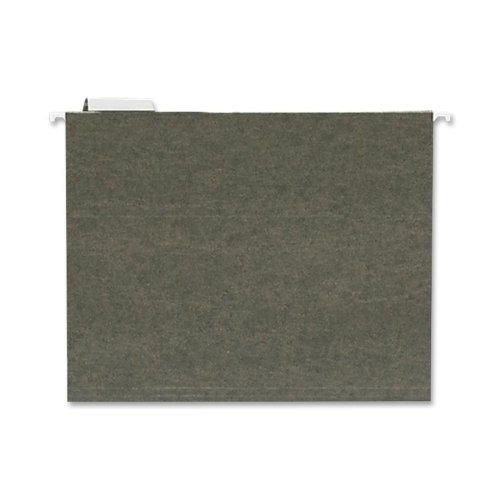 Sparco Hanging Folder, 1/5 Tab Cut, Letter, 25 per Box, Standard Green (SPRSP5215)