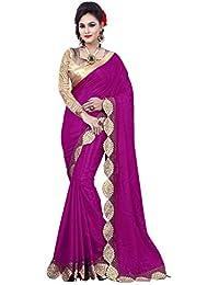 KANHA FASHION Women's Silk Saree (Saree145_Purple)