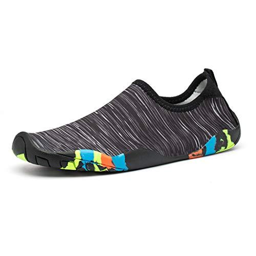 Beach Womens Schuhe (Luckhome Volleyball Socken Damen Atmungsaktiv Sneaker Damen Schuhe Damen Winter Mens Womens Water Swim Schuhe Quick Dry Barfuß Tauchen Sport Beach Yoga Schuhe(Schwarz,EU:36))