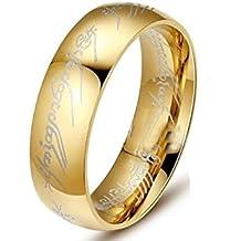 El señor del anillo anillos de acero inoxidable