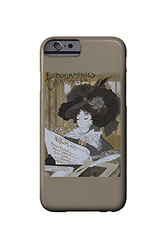 Lithographies Originales - Album No2 Vintage Poster (artist: De Feure) France c. 1898 (iPhone 6 Cell Phone Case, Slim Barely There) -