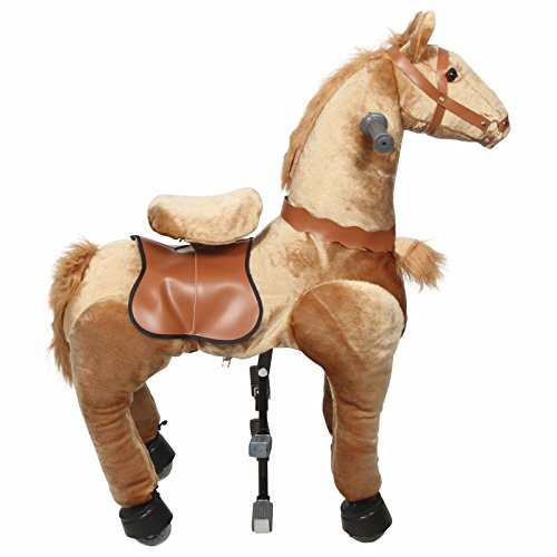 Ride on Horse Cycle Toy Medium Mechanical Walking Pony Bounce up and down & Move (Age Group 4 year to 9 year ) (Gold)