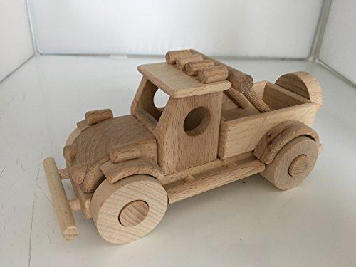 Camionette Pick up vintage année 50/60 en bois, artisanat véritable - jouet bois magnifique