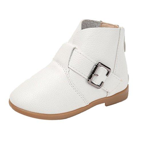 Hunpta Winter Kinder Schuhe Martin Stiefel Kinder Stiefel Mädchen Stiefel Fashion Sneakers (24, (Weiße Stiefel Kinder)