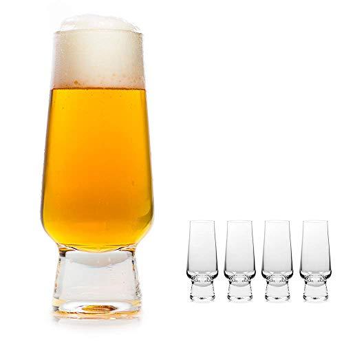 oha-design Craft-Beer-Set [4er Set] Biergläser für Craft-Biere wie Pale Ale, Pils, Wit, Helles - 4-teiliges Craft-Bier-Glas-Set/Tasting Kit - 400-ml, perfekt geeignet Welt der Biere