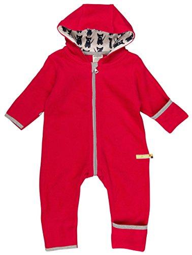 loud + proud Unisex Baby Schneeanzug Overall Fleece, Rot (Purple Pu), 80 (Herstellergröße: 74/80)