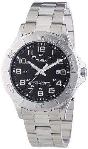 Timex-Mens-Dress-Reloj-de-cuarzo-para-hombre-con-correa-de-acero-inoxidable-color-plateado