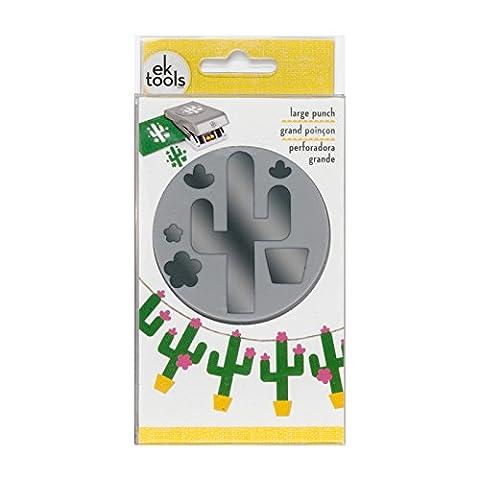 EK tools Kaktus, Grau, groß (Ek Success Border Punches)