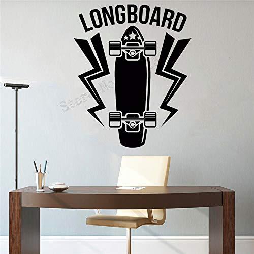 JXAA Wandkunst Aufkleber Longboard Dekoration entfernbares Plakat
