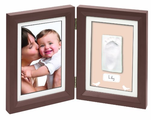 Baby Art Print Frame - Brow and Taupe / Beige