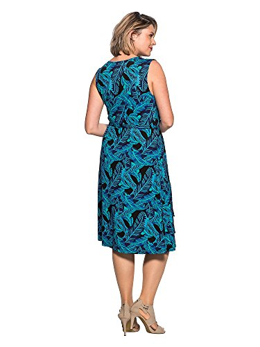 sheego by Anna Scholz Femmes Robe détente Grandes tailles Bleu