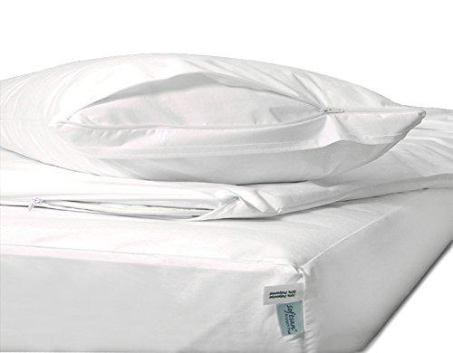Allergiker Set 3 tlg. Softsan Encasings/Milbenschutz für Matratze, Decke und Kissen (40x80/135x200/90x200x16 cm)