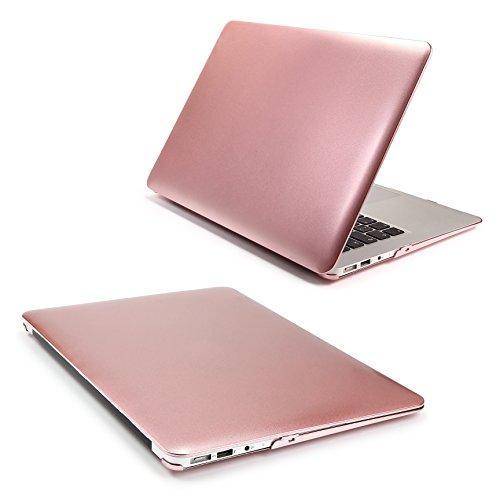 Urcover® Macbook Air 11,6 Zoll Crystal Hard Case | Ultra Slim in Steel Rosé Gold Design | 360 Grad dünne Komplett Schutzhülle Full Body Hochwertige Laptop Cover Hartschale Tasche Zubehör
