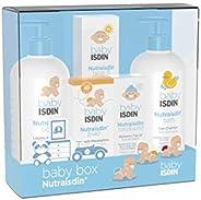 ISDIN NutraISDIN - Canastilla Maxi Azul, Pack Body Lotion, Bath Gel, Zn40, Facial SPF15, Cold&Wind fa